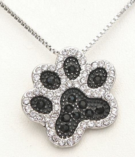 Crystal Pawprint Necklace