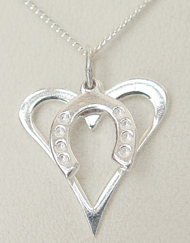 Hoofprints In My Heart Necklace