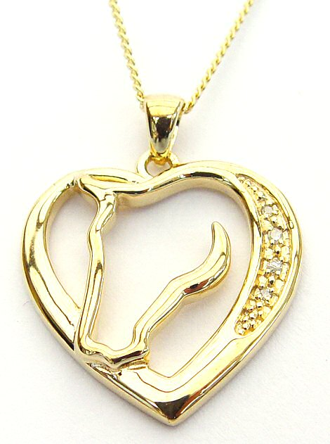 Gold Horses In My Heart Necklace