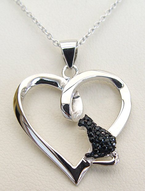 Love Black Cats Necklace