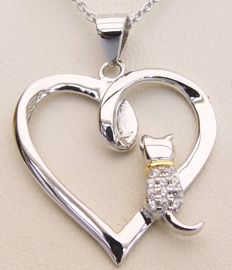 Love White Cats Necklace