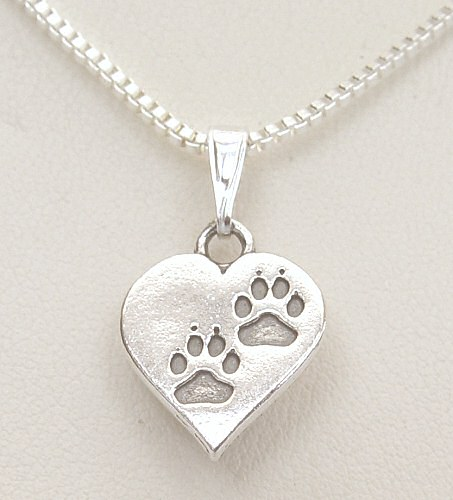 Pawprints on my heart necklace aloadofball Gallery